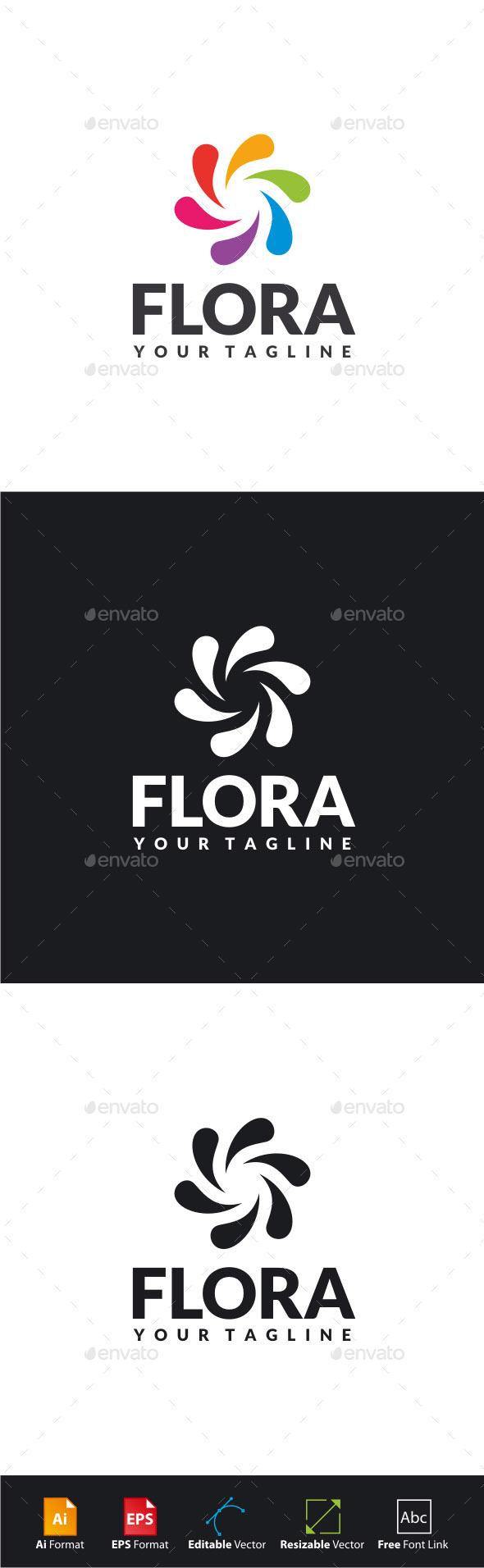 GraphicRiver Flora Logo 11378219