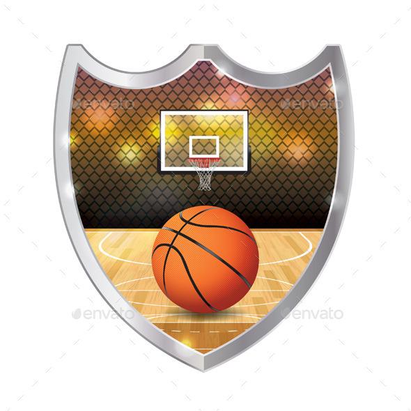 GraphicRiver Basketball Emblem Illustration 11378333