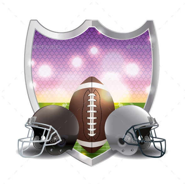 GraphicRiver American Football Emblem Illustration 11378339