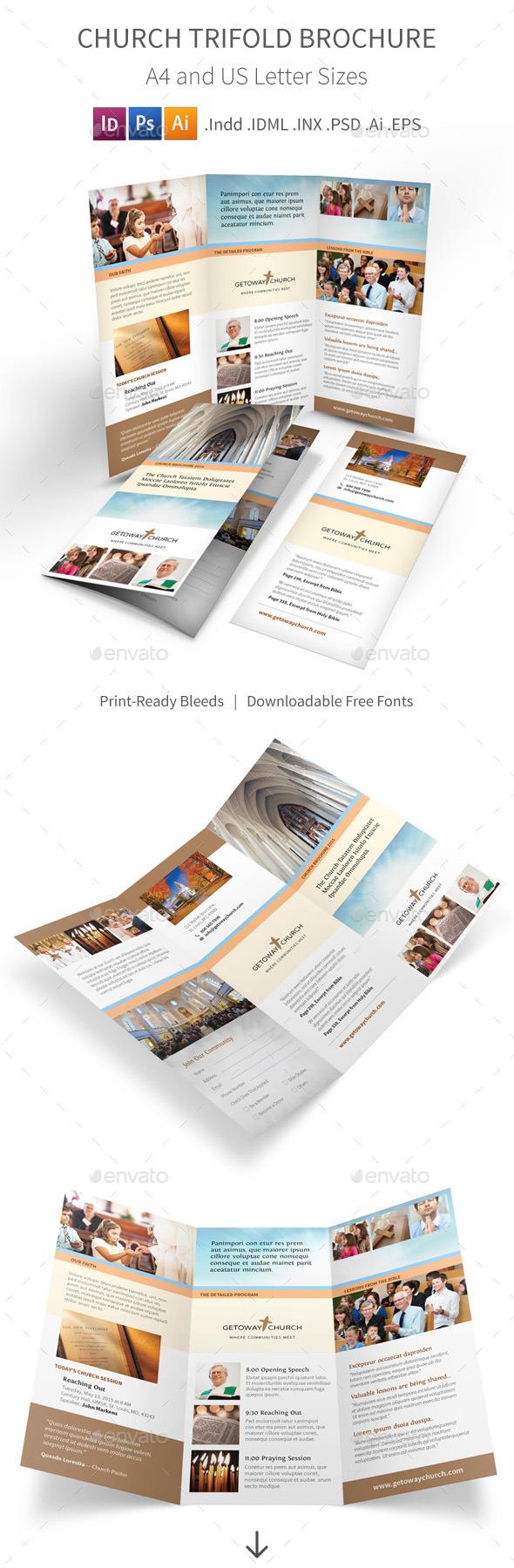 GraphicRiver Church Trifold Brochure 11378390