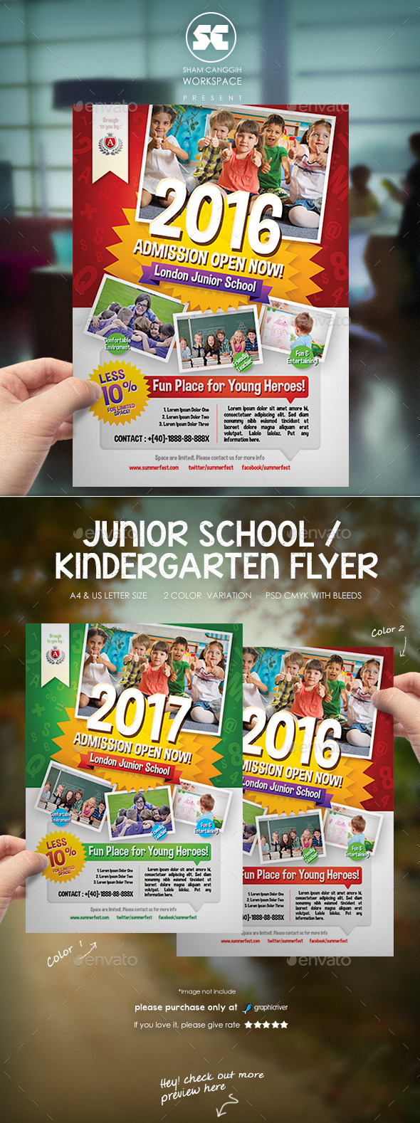 kindergarten junior school flyer scworkspace flyer templates designed exclusively for education school kindergarten or any of use fully editable image logo can be quickly added or replaced in smart