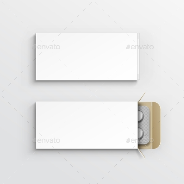 GraphicRiver Blank Package Box for Blister of Pills 11378412
