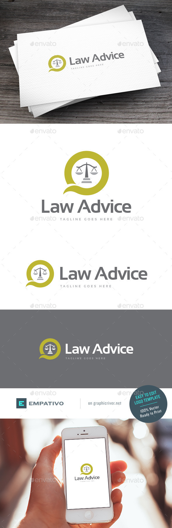 GraphicRiver Law Advice Logo Template 11378419