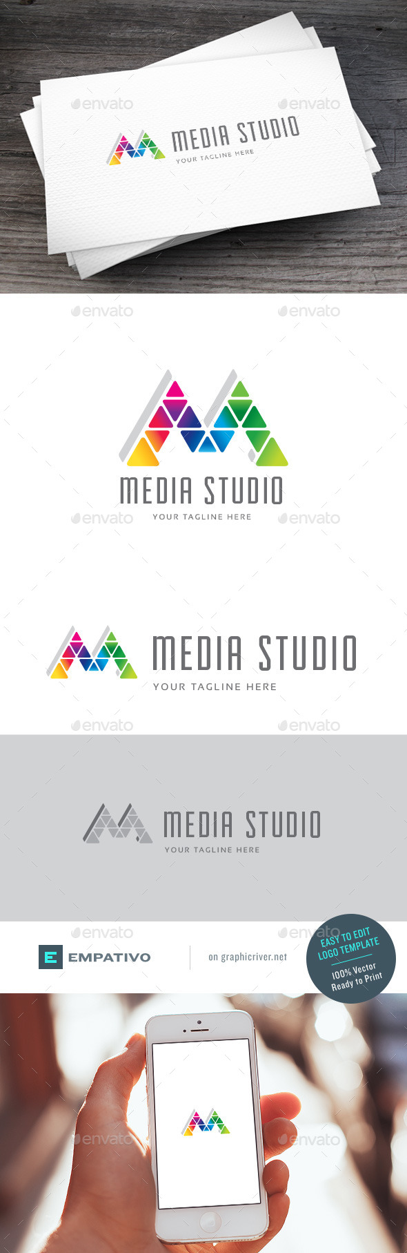 GraphicRiver Media Studio Logo Template 11378445