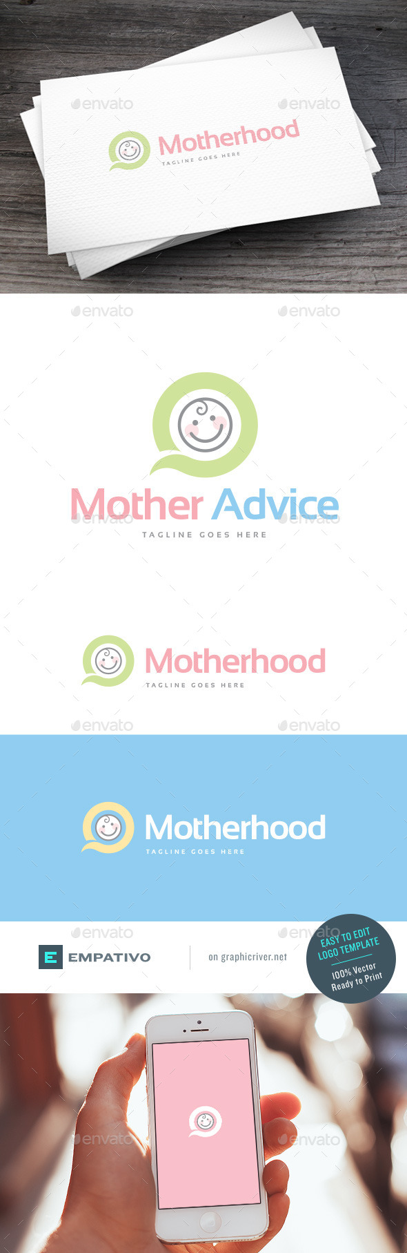 GraphicRiver Motherhood Logo Template 11378558