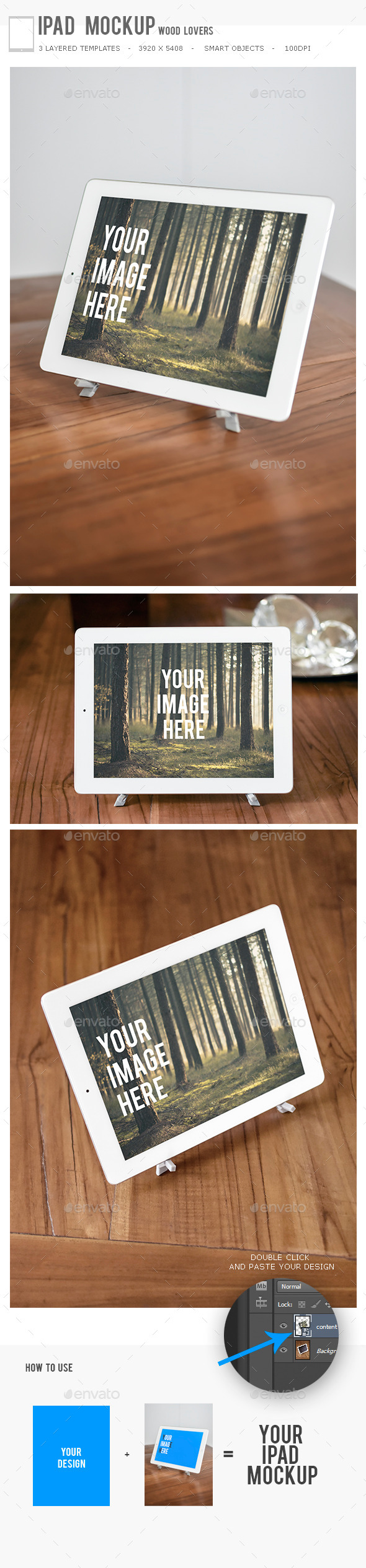 GraphicRiver Ipad Mockup Wood Lovers 11325407