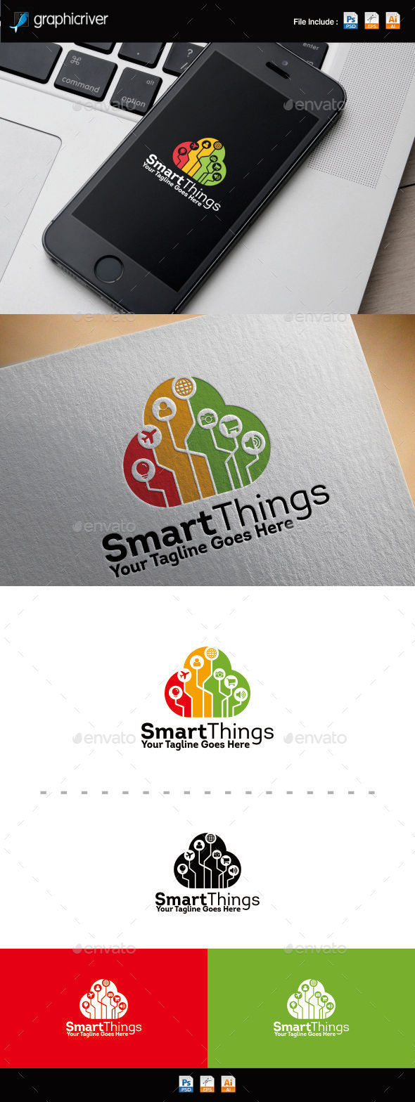 GraphicRiver Internet Of Things Cloud Logo 11378573
