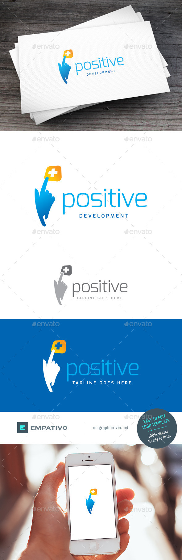 GraphicRiver Positive Logo Template 11378607