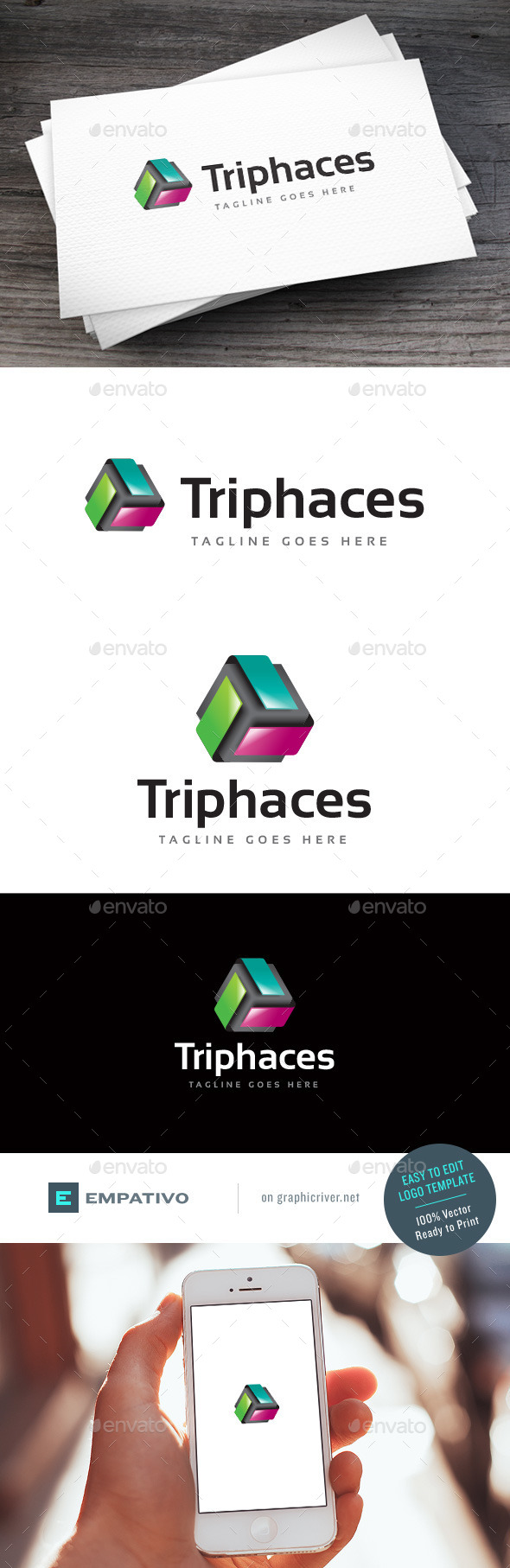 GraphicRiver Triphaces Logo Template 11378650