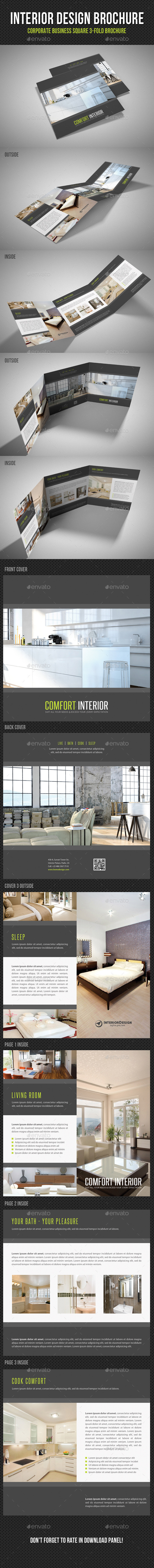 GraphicRiver Interior Design Square 3-Fold Brochure V05 11378654