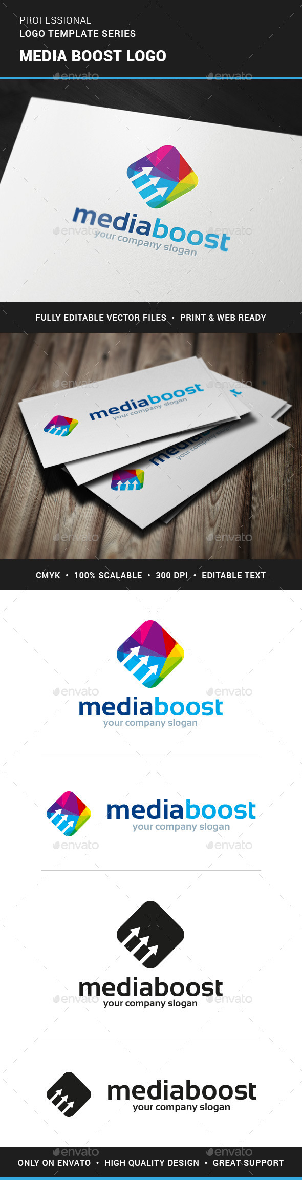 GraphicRiver Media Boost Logo Template 11378764