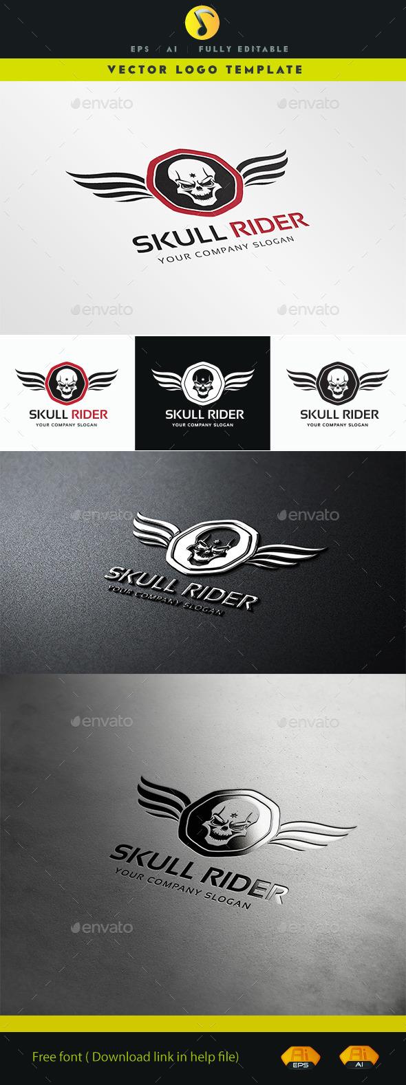 GraphicRiver Skull Rider 11378775