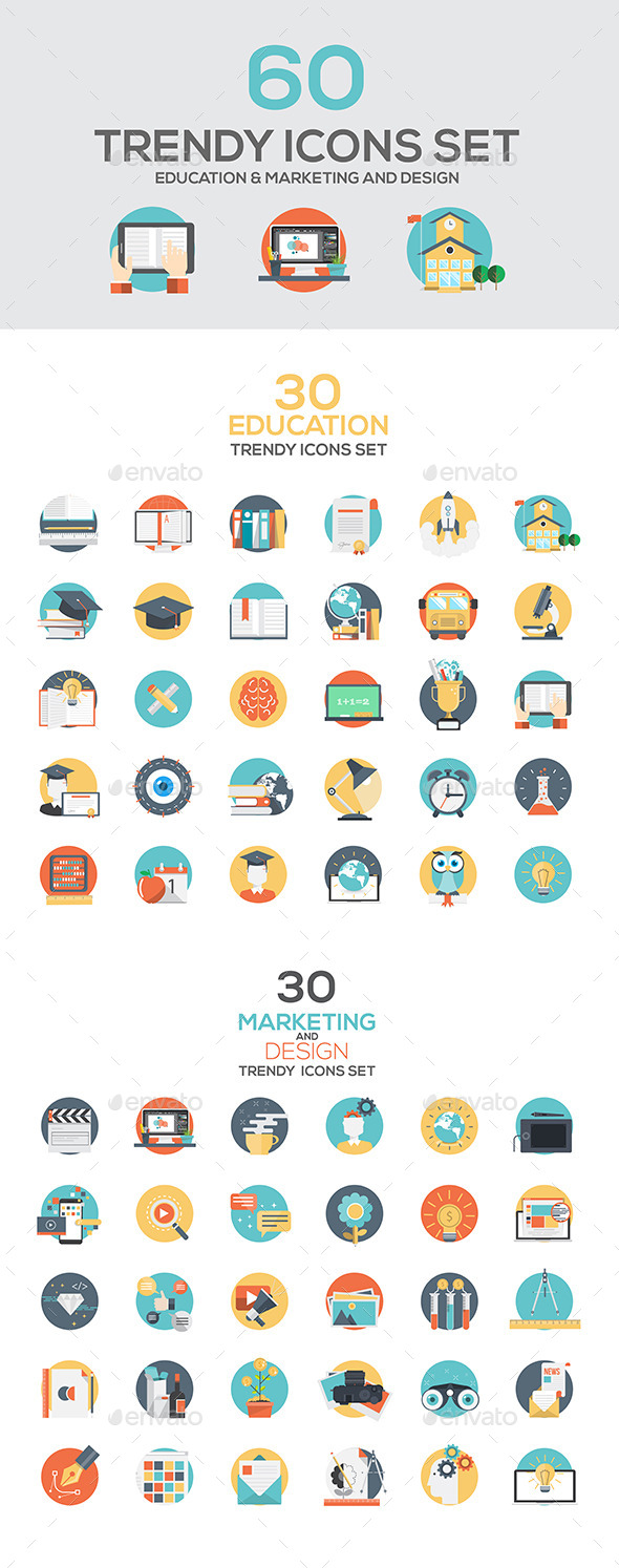 GraphicRiver Set of Modern Flat Design Icons 11378836