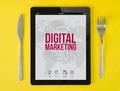 tablet breakfast digital marketing blog - PhotoDune Item for Sale