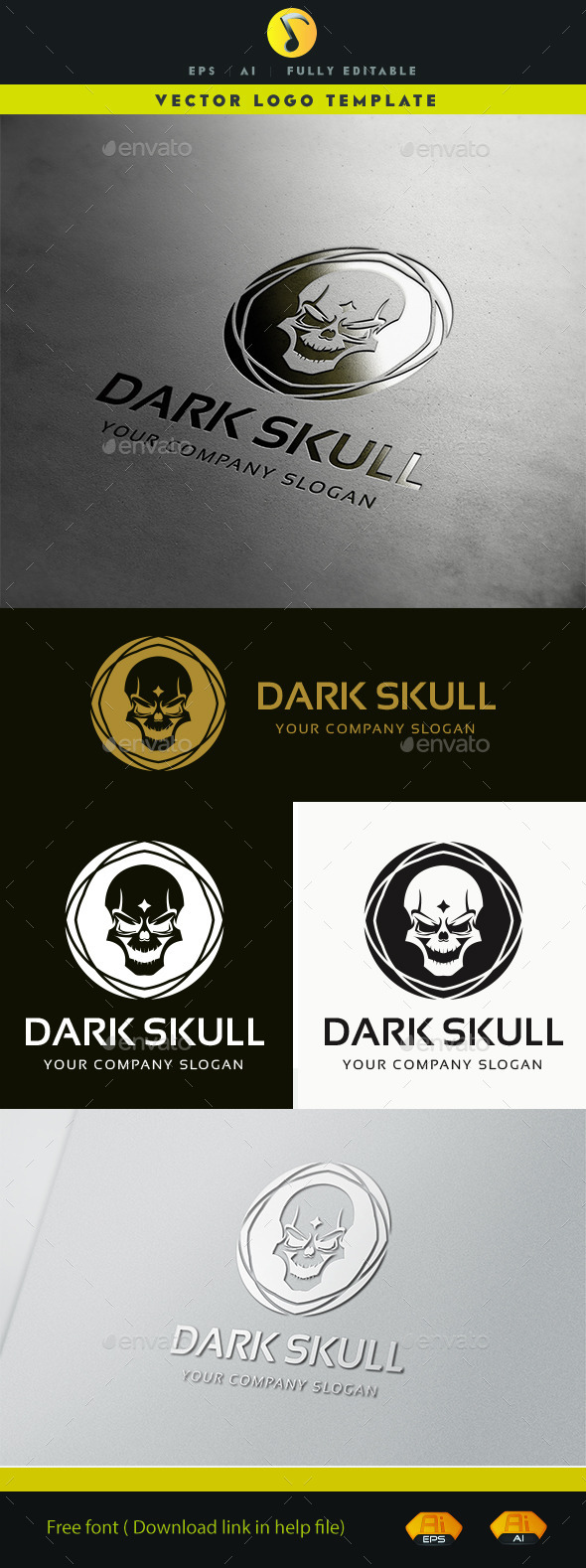 GraphicRiver Dark Skull 11379200