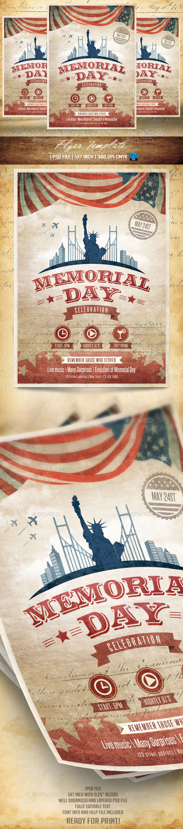 GraphicRiver Memorial Day Flyer Template v2 11379231