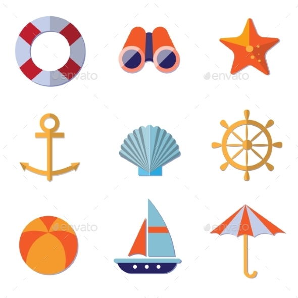 GraphicRiver Sea Objects Collection Vector 11379241