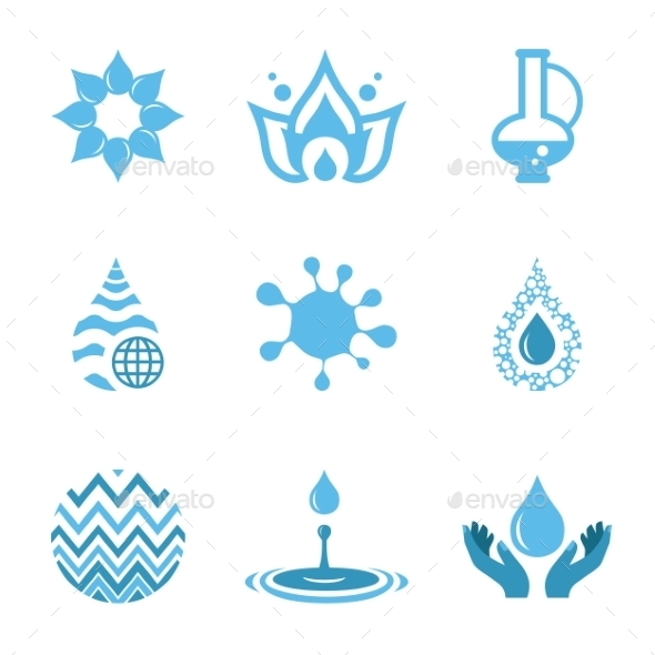 GraphicRiver Water Drop Shapes Collection Vector Icon 11379245