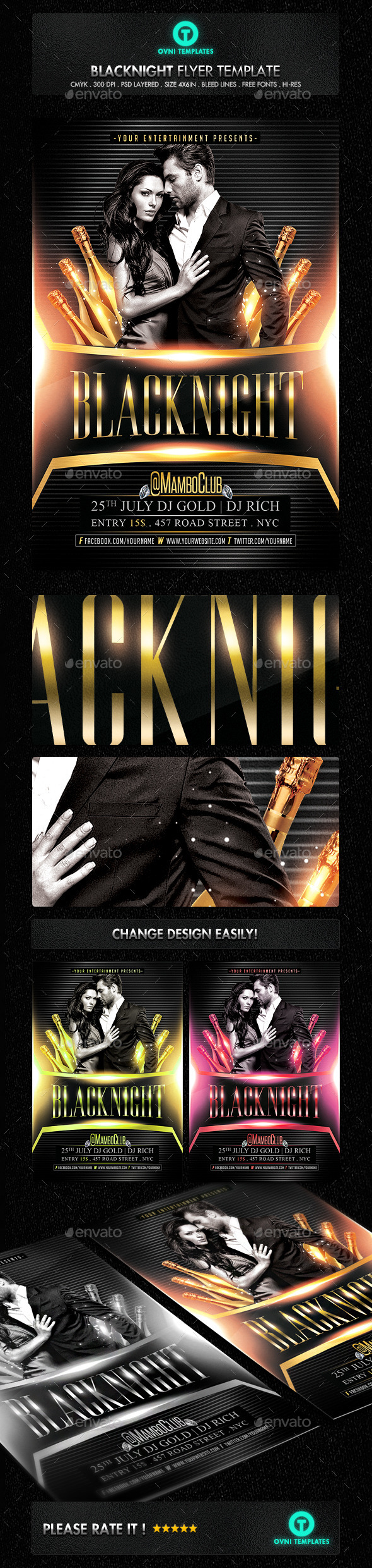 GraphicRiver Luxury VIP Gold Flyer Template 11304828