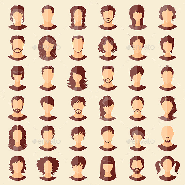 GraphicRiver Set of Avatars 11379317