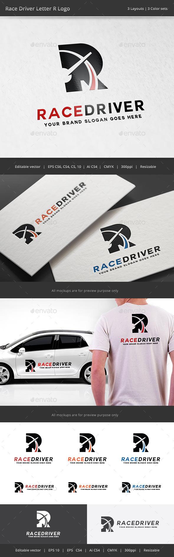 GraphicRiver Race Drvier Letter R Logo 11379321