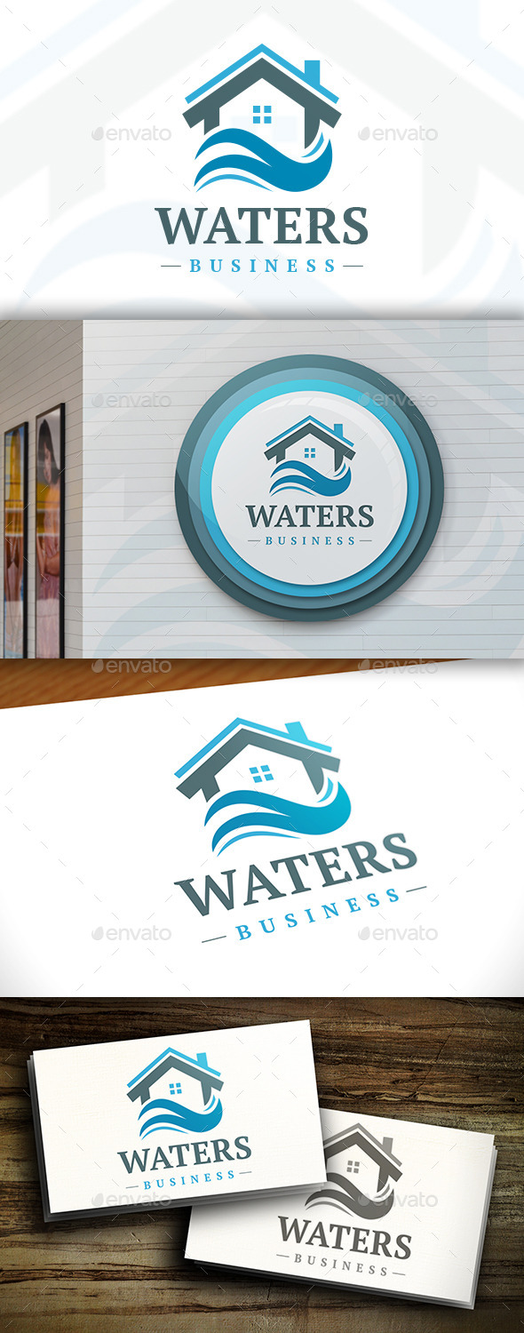 GraphicRiver Water House Logo Template 11379384