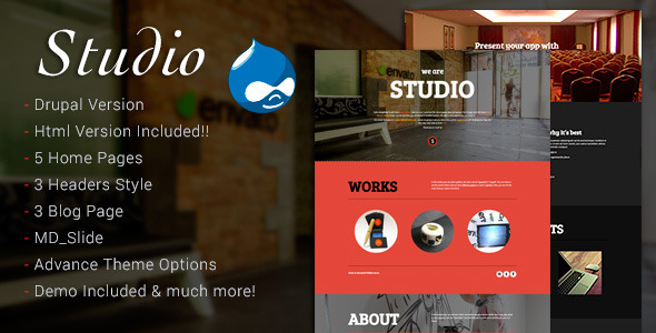 Studio - Multipurpose Technology Drupal Theme