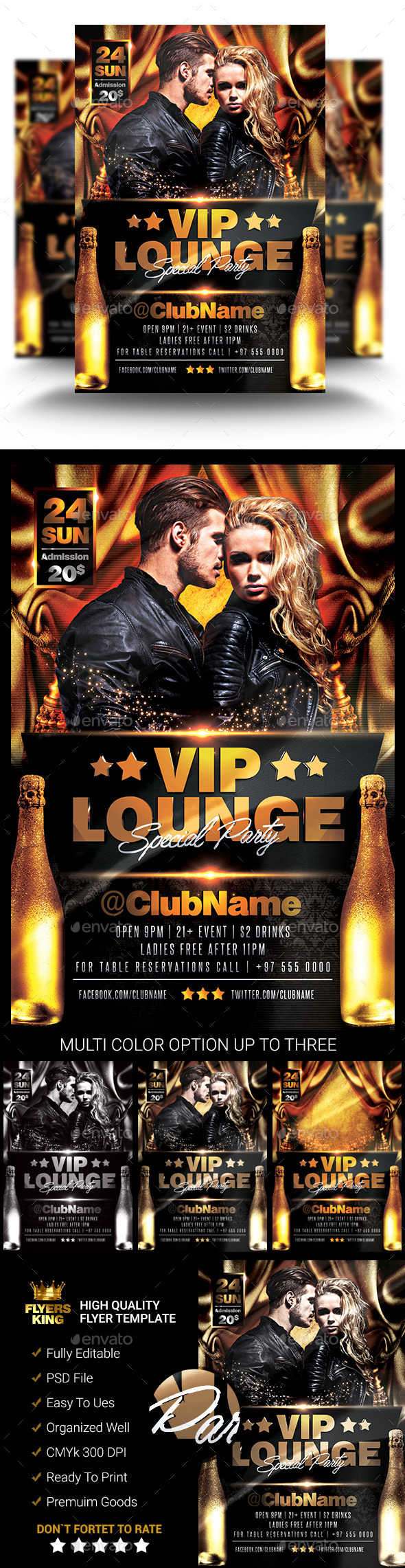 GraphicRiver Vip Lounge Party Flyer 11379448
