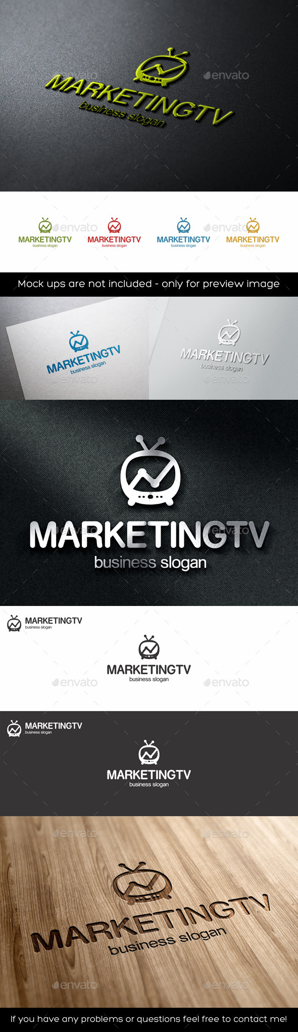 GraphicRiver Marketing TV Stats Graph Logo 11379450