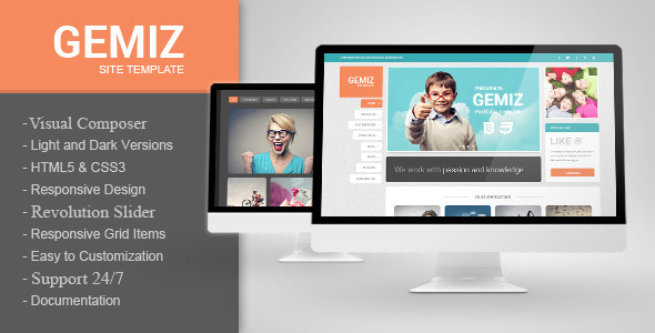 ThemeForest Gemiz Portfolio WordPress Theme 11379451