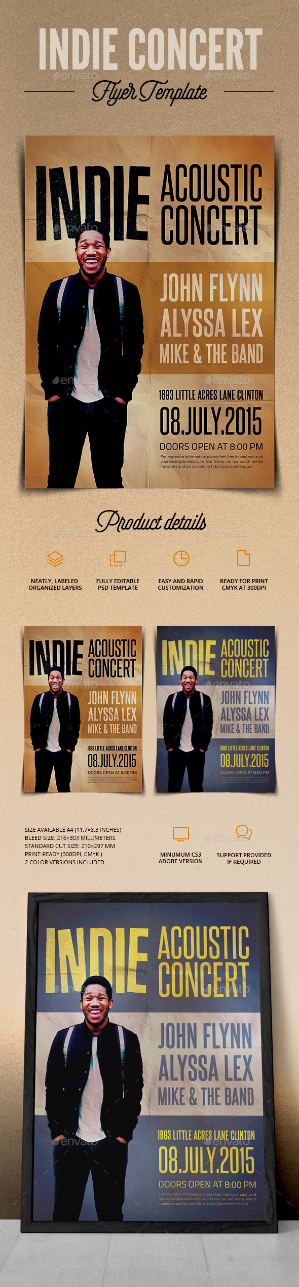 GraphicRiver Indie Acoustic Concert Flyer 11379456