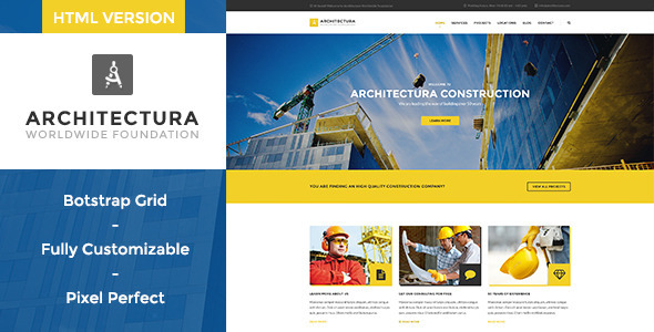 Architectura - Construction HTML Template - Business Corporate