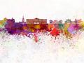 Oslo skyline in watercolor background - PhotoDune Item for Sale