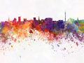 Dortmund skyline in watercolor background - PhotoDune Item for Sale