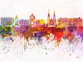 Strasbourg skyline in watercolor background - PhotoDune Item for Sale