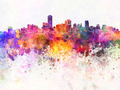 Adelaide skyline in watercolor background - PhotoDune Item for Sale