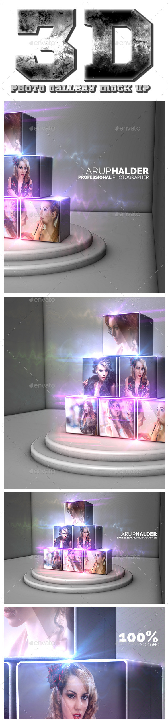 GraphicRiver 3D Photo Gallery Mock Up 11308803