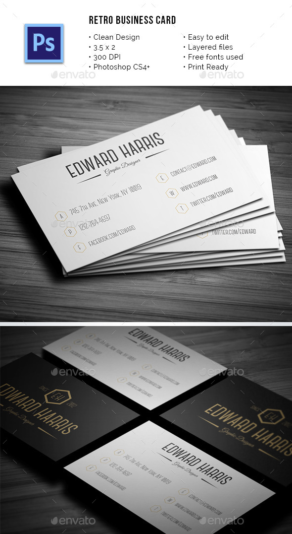 Card vintage business card templates designs from graphicriver reheart Gallery