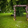 Wedding decoration in summer garden.