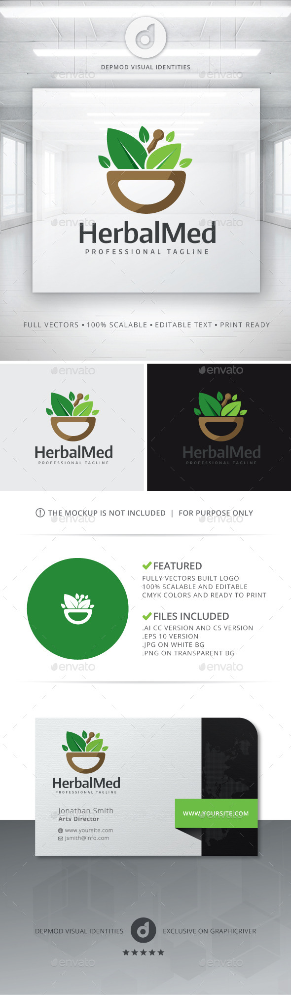 GraphicRiver Herbal Med Logo 11379746