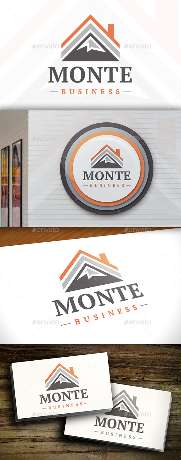 GraphicRiver Mountain House Logo Template 11379760