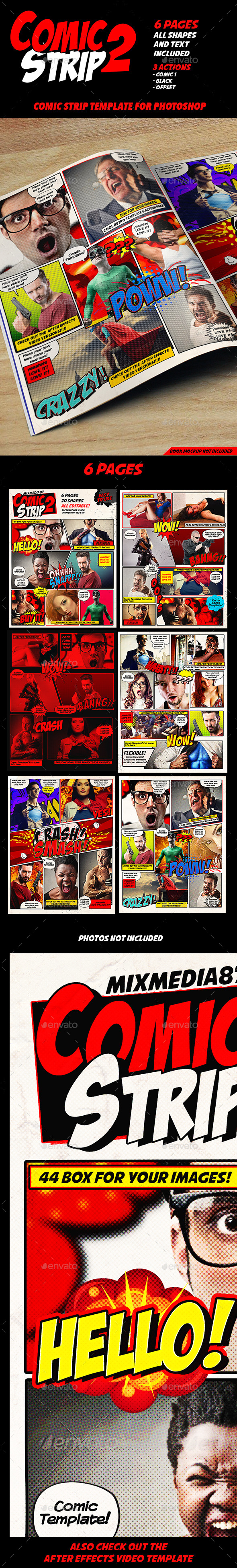 GraphicRiver Comic Strip Template 11341684