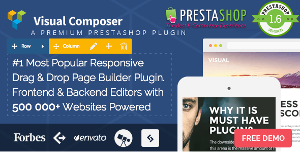 CodeCanyon Visual Composer Page Builder for Prestashop 11336599