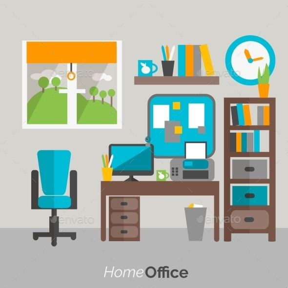 GraphicRiver Home Office Furniture Icon Poster 11380402