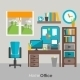 Home Office Furniture Icon Poster - GraphicRiver Item for Sale