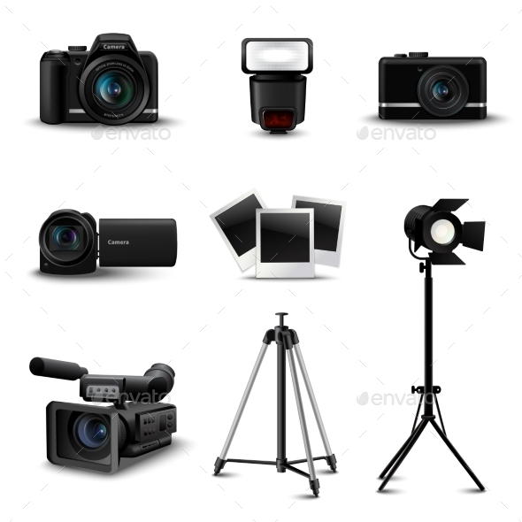 GraphicRiver Realistic Camera Icons 11380412
