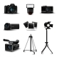 Realistic Camera Icons - GraphicRiver Item for Sale