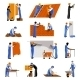 Worker Icons Set - GraphicRiver Item for Sale