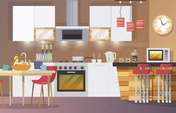 GraphicRiver Kitchen Interior 11380426