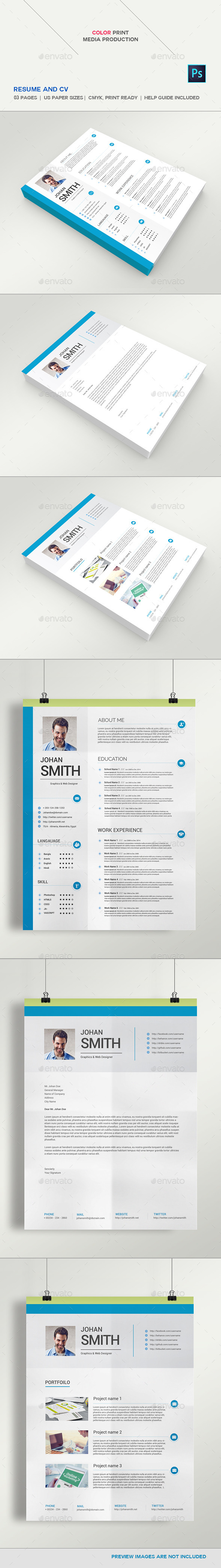 GraphicRiver Resume And CV 11380433